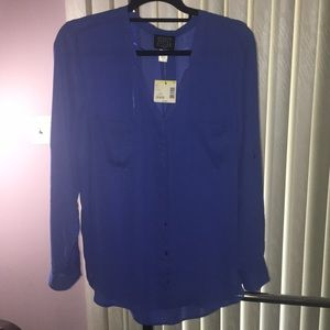 Royal blue blouse (NEW with Tags!)